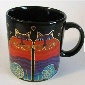 Laurel Burch Rainbow Cats Mug RARE Discontinued